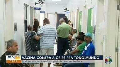 Campanha de vacinação contra a gripe prossegue nos postos de saúde - Em Dracena e Presidente Prudente, as doses foram liberadas para todos os públicos.