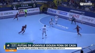 Futsal de Joinville goleia fora de casa - Futsal de Joinville goleia fora de casa