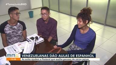 Conheça as refugiadas venezuelanas que dão aulas de espanhol em Salvador - Ação é promovida por uma pastoral da Igreja Católica.
