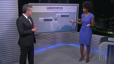 Capital teve dia seco e máxima de 24 graus - Amanhã, há previsão de nevoeiro em São Paulo e Guarulhos. Depois, o sol aparece e a máxima chegará a 26 graus. Até sábado, nada de chuva.