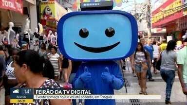 Feirão da TV digital vai até sábado (15), em Tanguá - Quem for ao evento vai poder tirar dúvidas sobre o novo sistema.