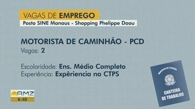 Sine Manaus oferece vagas de emprego nesta quarta-feira (12) - Confira as oportunidades.