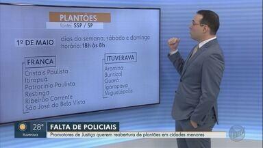 MP pede reabertura de plantões policiais à noite na região de Franca, SP - Desde 1º de maio, delegacias estão fechadas das 18h às 8h, aos finais de semana e feriados.
