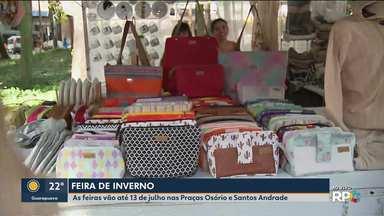 Feiras de inverno vão até o dia 13 de julho - As barracas estão montadas nas praças Osório e Santos Andrade.