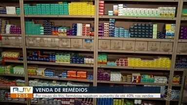 Farmácias de Itatiaia registram aumento de até 40% nas vendas - Chegada das baixas temperaturas vem acompanhada de sintomas como resfriados e alergias.