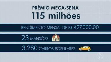 Mega-sena acumulada tem prêmio de R$ 115 milhões - Moradores do Sul do Rio sonham em ganhar esse dinheiro.