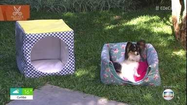 Toca para cães também vira uma caminha - Você vai gastar menos de 40 reais para fazer a toca e pode vender por cerca de 130!