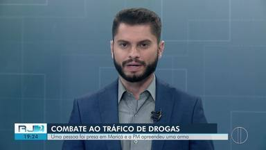 Homem é detido em operação da Polícia Militar em Maricá, no RJ - Ação contra o tráfico de drogas foi realizada no bairro São José do Imbassaí.