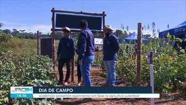 Dia de Campo em Porto Velho - Vários projetos de estudantes dos cursos de Ciências Agrárias, foram apresentados com base na agricultura sustentável.