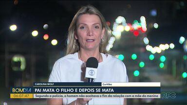 Pai mata o filho e depois se mata, em Piraquara - Segundo a polícia, o homem não aceitava o fim da relação com a mãe do menino.