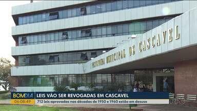 Leis vão ser revogadas em Cascavel - 712 leis aprovadas nas décadas de 1950 e 1960 estão em desuso.