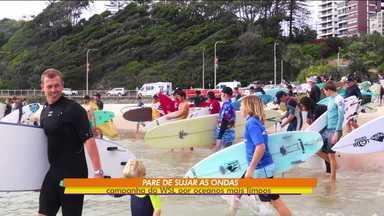 """Liga Mundial de surfe cria campanha contra a poluição dos mares: """"Parem de sujar as ondas"""" - Liga Mundial de surfe cria campanha contra a poluição dos mares: """"Parem de sujar as ondas"""""""