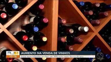 Lojas especializadas em vinhos registram aumento nas vendas na região - Se consumida de forma equilibrada, bebida pode trazer benefícios a saúde.