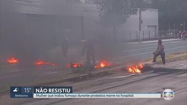 Morre mulher que inalou fumaça durante protestos em Belo Horizonte - Edi Guimarães estava em um ônibus quando a Avenida Antonio Carlos foi fechada durante manifestação na última sexta-feira (14).
