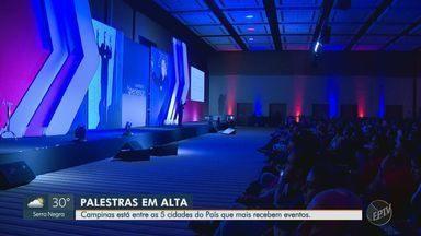 Campinas se destaca como sede de palestras em empresas - Infraestrutura das empresas na região faz com que Campinas (SP) receba várias palestras ao longo do ano.