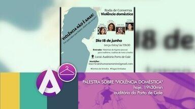 Violência doméstica é tema de palestra em Rio Grande - Evento solidário acontece nesta terça-feira na cidade. Doações serão recolhidas para instituição que abriga vítimas de violência.