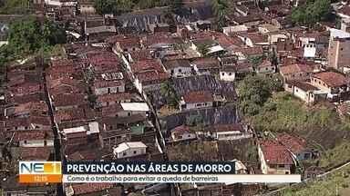 Defesa Civil do Recife trabalha para prevenir acidentes nos morros - Proteção das encostas evita queda de barreiras e traz segurança para a população.
