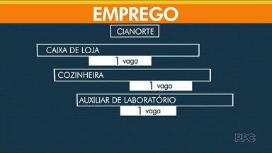 Confira as vagas de emprego abertas nesta terça-feira (18) - Em Cianorte, tem uma oportunidade para caixa de loja.
