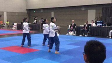 Atletas de Mogi participam do Campeonato Pan-Americano Open de Taekwondo - O Brasil foi representado na categoria juvenil por Jéssica Nakamura, Beatriz e Fernanda Real.