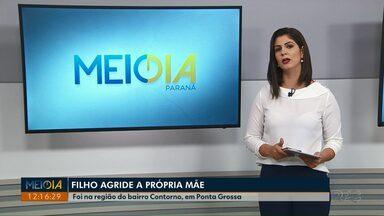 Homem de 27 anos agride a própria mãe em Ponta Grossa - Crime foi na região do bairro Contorno.