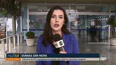 Câmara de Ponta Grossa regulamenta gastos com diárias - Neste mês um projeto de lei que tratava do assunto foi arquivado, depois de receber parecer contrário da Comissão de Legislação, Justiça e Redação.