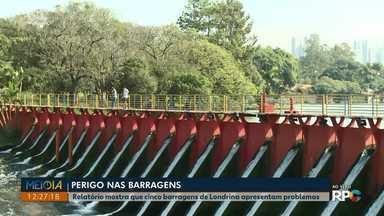 Relatório mostra que cinco barragens de Londrina apresentam problemas - O relatório foi realizado pelo Tribunal de Contas do estado e apontou problemas em onze barragens do Paraná, cinco estão em Londrina, a barragem do Lago Igapó está entre elas.