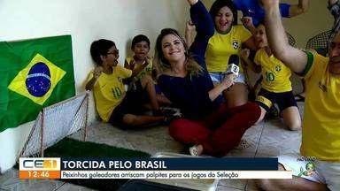 Peixinhos goleadores na torcida pelo Brasil - Confira mais notícias em g1.globo.com/ce