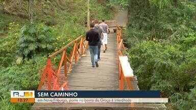 Em Nova Friburgo, ponte no bairro da Graça é interditada - Veja a seguir