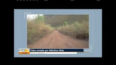 Vc no MG: Morador reclama da MG-311, estrada que liga Mantena a Itabirinha - Estrada está em más condições e sem asfaltamento.