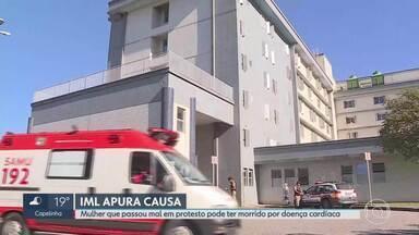 Hospital diz que inalação de fumaça em protesto não foi a causa da morte de mulher em BH - Unidade de saúde afirmou que 'óbito está associado à doença cardíaca e neurológica'.