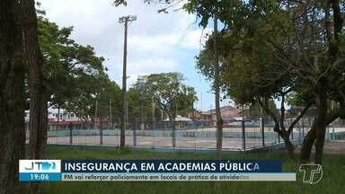 PM vai reforçar policiamento em locais utilizados para práticas de atividades físicas - Pedido foi feito pela Prefeitura após academia e parques serem alvos de vandalismo.