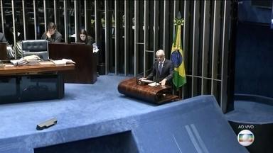 Senado debate parecer que derruba decreto das armas - CCJ do Senado já havia imposto uma primeira derrota do governo, aprovando a derrubada do texto. Decreto do presidente Jair Bolsonaro flexibiliza posse e porte de armas.