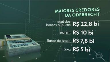 Justiça de São Paulo aceita pedido de recuperação judicical da Odebrecht - É o maior processo de recuperação judicial da história do país: R$83,6 bilhões. Os principais credores são bancos públicos: BNDES, Banco do Brasil e Caixa.