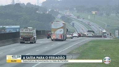 A saída para o feriadão - Nossos repórteres mostram a condição das rodovias que cortam o estado de São Paulo.