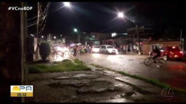 Motoqueiro se envolve em acidente no bairro do Telégrafo em Belém - O acidente foi registrado na noite de terça-feira, 18.