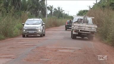 Motoristas reclamam dos buracos na MA-026 em Codó - Por conta da buraqueira, tem sido registrado um número alto de assaltos.
