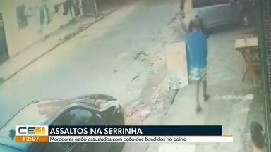 Ação dos bandidos na Serrinha assusta moradores - Saiba mais em g1.com.br/ce
