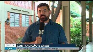 Funcionário da Cepisa é preso por furto de energia - Funcionário da Cepisa é preso por furto de energia