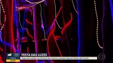 Começa hoje (20) a Festa das Luzes da Mata Atlântica - Festival acontece em Paulo de Frontin, RJ e vai até o dia 14 de julho