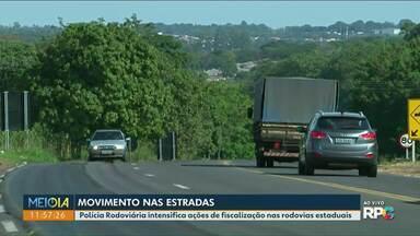 Feriadão deixa rodovias do noroeste mais movimentadas - PRE realiza ações de fiscalização nas estradas estaduais.