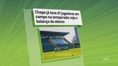 Chape já teve 47 jogadores em campo na temporada; veja o balanço do elenco - Chape já teve 47 jogadores em campo na temporada; veja o balanço do elenco
