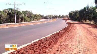 Obra da avenida NS-04, no centro de Palmas, é entregue; conclusão está prevista para julho - Obra da avenida NS-04, no centro de Palmas, é entregue; conclusão está prevista para julho