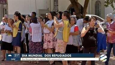 """MS1 conta a história de quem tenta """"ganhar a vida"""" na 2ª maior cidade do estado - Hoje é Dia Mundial do Refugiado e em Dourados quase 300 venezuelanos tentam seguir a vida e sustentar a família que ficou no país."""