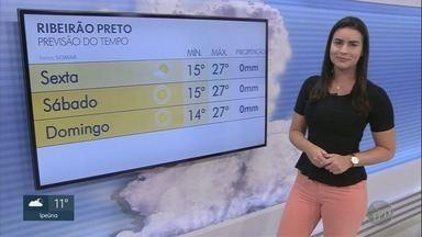 Confira a previsão do tempo para esta sexta-feira (21) na região de Ribeirão Preto - Temperatura máxima deve ser de 27ºC na maioria das cidades.