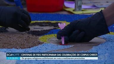 Confira a celebração de Corpus Christi em Maringá - Os grupos religiosos enfeitaram as ruas e realizaram procissões