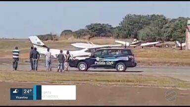 Piloto que foi sequestrado chega com avião em aeroporto de MS - Em Mato Grosso do Sul.