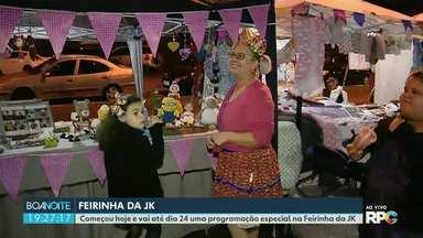 Começou hoje a festa junina da Feirinha da Jk em Foz - A programação segue até dia 24 dia de São João, padroeiro da cidade.