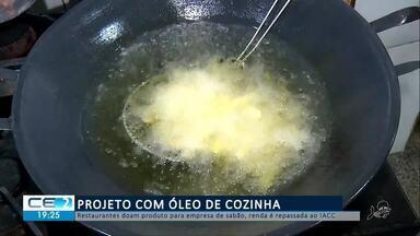 Projeto com óleo de cozinha reverte parte da renda para intituições - Confira mais notícias em g1.globo.com/ce