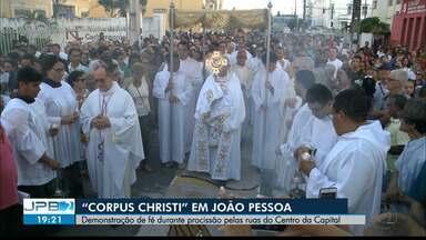 """JPB2JP: """"Corpus Christi"""" - Demonstração de fé em procissões na Capital e em Guarabira - Tapetes artísticos foram montados."""