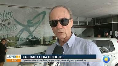 Aumenta o número de pessoas que se queimam com fogos no artifício na Paraíba - Médico Saulo Montenegro fala sobre os cuidados.